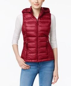 32 Degrees Packable Down Hooded Puffer Vest, Only at Macy\'s -