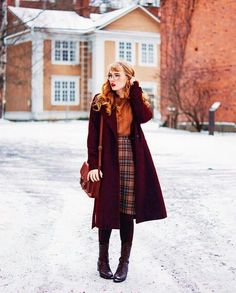 44 Best combination of different styles for winter – Vintage / Rockabilly style – Modest Fashion, Fashion Outfits, Womens Fashion, Fashion Trends, Fashion Styles, Fashion Ideas, Fall Outfits, Casual Outfits, Cute Outfits