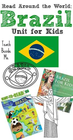 This year we are going to be learning a lot about Brazil! With the Summer Olympics being hosted in Brazil, I wanted to do some fun things to teach my kids all about it. Geography For Kids, Geography Lessons, World Geography, Brazil Geography, Around The World Theme, Kids Around The World, Around The Worlds, Brazil Culture, Little Passports