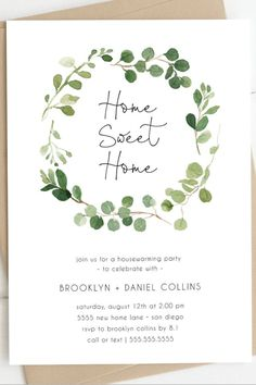 Housewarming Party Ideas, These house warming invitations are perfect for hosting a party at your new home! Edit and print these invites today! 18th Birthday Party Themes, Holiday Party Themes, Halloween Party Decor, Party Ideas, Housewarming Party Invitations, Shower Invitations, Housewarming Gifts, House Party Invitation, Tea Party Outfits