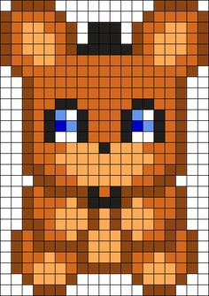 Freddy Plush Perler Bead Pattern / Bead Sprite