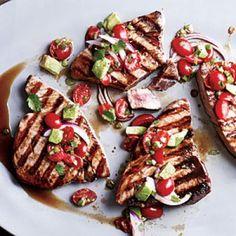 Quick and Easy Summer Recipes: Seared Tuna with Avocado Salsa   CookingLight.com