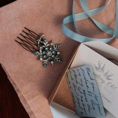 A snowflake comb on its way to the lovely Leanne. Tis the season for winter themed jewellery.