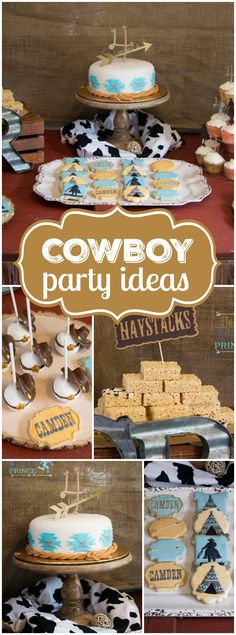 Cowboys and Indians meet up at this western birthday party! See more party ideas at CatchMyParty.com!