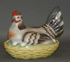 Staffordshire hen on nest : 1860's