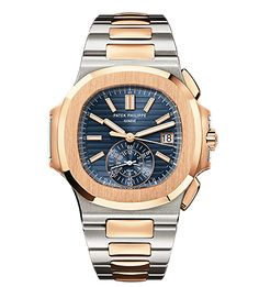PATEK PHILIPPE Stainless Steel and Rose Gold Men's Nautilus REF. 5980/1AR-001 launched at Baselworld 2013