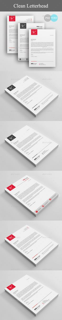 Letterhead Stationery printing, Print templates and Template - corporate letterhead