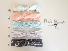 LOVE THESE! Organic cotton Knit  Knotted HeadbandBlushing by BabyBeansandMe, $10.00