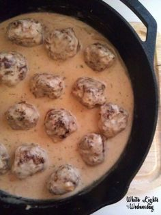 Swedish Meatballs - These are seriously good.  The sauce is creamy and beefy, and the pops of onion in the meatball itself is wonderful.