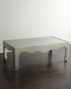 Macari Coffee Table by Bernhardt at Horchow. silver leafed