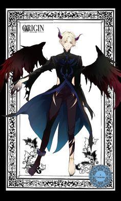 My Demons, Angels And Demons, Dark Anime, Cute Characters, Fantasy Characters, Manga Anime, Anime Art, Tsukiuta The Animation, Ange Demon
