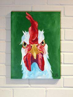 12x16 Custom Animal Painting Pet Portrait Canvas Art Original Dog Cat Chicken Cow Horse