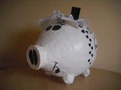 Schwein - Briefbox - Geldgeschenk - dezente Flitterkasse - Hochzeit - Tauben -
