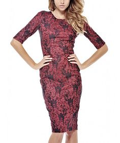 Another great find on #zulily! Red Paisley Lace Cutout Dress - Women #zulilyfinds