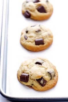 Bourbon Chocolate Chip Cookies -- soft, chewy, and made extra delicious with a hint of bourbon | gimmesomeoven.com
