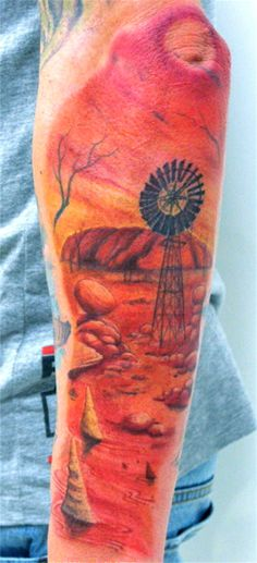 Aussie Outback Tattooist: Daniel Brandt  Electric Expressions Tattoo Studio Margate, QLD, Australia  PH: (07) 38895966
