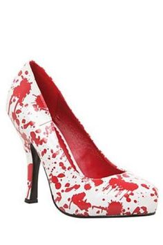 Blood splatter pumps - WANT Red Wedge Shoes, Shoes Heels Wedges, Red Pumps, Red Shoes, Cute Shoes, Me Too Shoes, Awesome Shoes, Dexter Shoes, Shiny Shoes