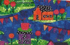Fabric by Jamie Fingal and Hoffman California Fabrics http://JamieFingalDesigns.blogspot.com/