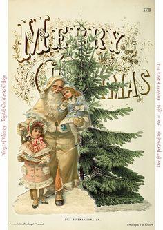 Wings of Whimsy: Vintage Digital Christmas y