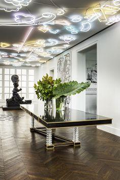 L'appartement contemporain d'une collectionneuse © Mathieu Salvaing
