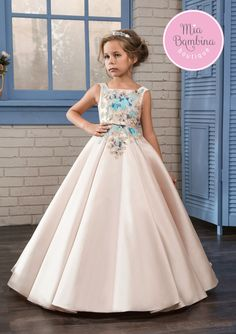 Cheap communion dresses, Buy Quality first communion dresses directly from China flower girl dresses Suppliers: Cute Ivory Flower Girls Dresses for Weddings 2017 With Pattern Bow Sash Little Girls Pageant Gowns First Communion Dress Girls Party Dress, Birthday Dresses, Girls Dresses, Blush Flower Girl Dresses, First Communion Dresses, Pageant Dresses, Ball Gowns, Wedding Dresses, Satin Skirt