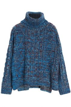 Cute Heather Blue Long-Sleeve Knit Sweater with Turtle Neck. This long-sleeved sweater will be topping our must-have list as soon as the cooler weather rolls in. It has heather blue shell, high neck, long sleeves,ribbed trim. We're taking this super-warm Warm Sweaters, Sweaters For Women, Long Sleeve Sweater, Men Sweater, Turtle Neck, Knitting, Womens Fashion, Cute, Cardigans