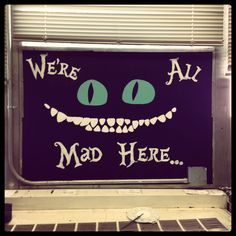 Alice in Wonderland painting I did in my room.