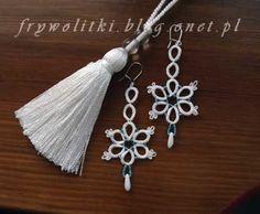 Frywolitkowe kolczyki kwiatki - Frywolitki, biżuteria i nie tylko - Onet.pl Blog #chiacchierino #tatting #frivolite
