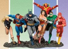 JLA-DC-Comics-Justice-League-of-America-Build-A-Scene-Statue-Set-New-2008