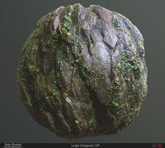 Jungle Overgrown Cliff - Substance Designer, Shray Khanna on ArtStation at https://www.artstation.com/artwork/aPqg2