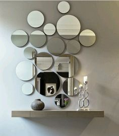 Room Style, Mirrors, Interiors, Diy, Chandeliers, Stairways, Entryway,  Round Mirrors, House Decorations