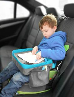 Amazon.com: Kids Travel Play Tray - Childrens Car Seat Buggy Pushchair Lap Tray (Red): Baby