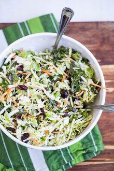 Sweet Kale Salad (Costco Copycat) - www.perrysplate.com
