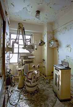 Same Guardian article, Photos by Marchand and Meffre. Dentist cabinet, Broderick Tower. Detroit.
