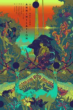 annihilation movie poster by tomer hanuka Film Poster Design, Movie Poster Art, Poster Layout, Annihilation Movie, Colorful Movie, Tomer Hanuka, Whatever Forever, Movie Synopsis, Alternative Movie Posters
