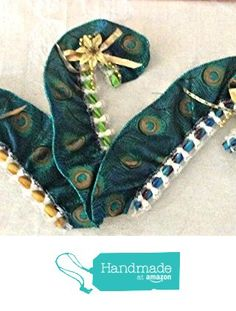 Teal and Gold Peacock Christmas Candy Cane Decoration from The Candy Cane Lady https://www.amazon.com/dp/B01LZEJ0O5/ref=hnd_sw_r_pi_awdo_CsU9xbRD0YZ4T #handmadeatamazon