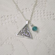Irish Jewelry  Celtic Knot Triquetra  Irish by SouthernBelleOOAK