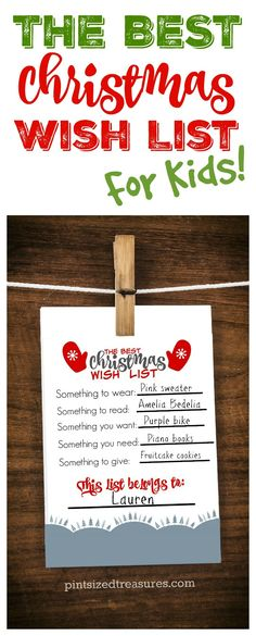 Encourage kids to be thoughtful this year in their Christmas wish list adventures! Check out this adorable printable that parents AND kids love! Print it out, fill it out and hand it on your fridge! It's cute enough to frame as well as a keepsake! <3