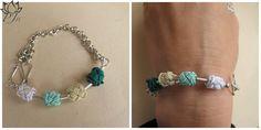 Bracelet Jellaba collection moroccoan cotton aluminium indian silver and silver Padma Jewels Bazaar