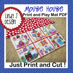 MOUSE HOUSE Print and Play Mat playmat PDF pattern