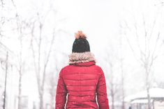 Woman Standing in The Middle of The Park in Snowy Weather #2 Free Stock Photo Download | picjumbo