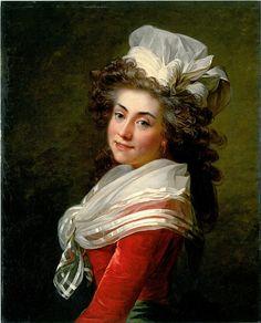 Marquise de Grécourt, née de la Fresnaye by Jean-Laurent Mosnier, ca. 1790