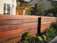wooden horizontal fence