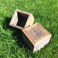 """Barn Door Creations now offers a small rustic box made of reclaimed wood. Can be used for display, storage, or as a planting box. Size is 6"""" x 6"""" x 6"""". Custom sizes available upon request. $8.00  www.facebook.com/barndoorcreations"""
