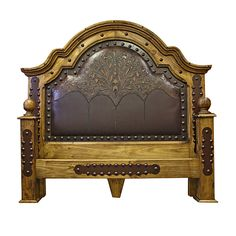 Beautiful leather tooled bed