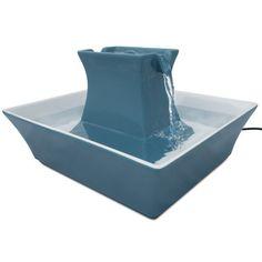 RadioFence.com - Drinkwell Blue Stoneware Pagoda Fountain, $79.95 (http://www.radiofence.com/drinkwell-blue-stoneware-pagoda-fountain/)