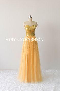 Long Bling Sequin Prom Dress Sexy Evening Gown by jayfashion