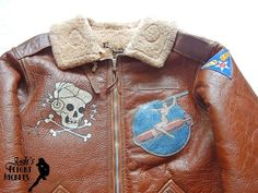 WWII US Army Air Force Nose Art Pin up Hand Painted Flight Jacket B-6 Eastman Leather