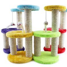 Creative Pet Cat Toy Crazy Cat and mouse Scratcher cat tree arbre a chat rascador para gatos For Cats Kitten 072203