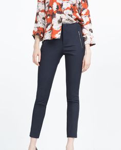 Image 5 of MID-RISE SKINNY TROUSERS from Zara